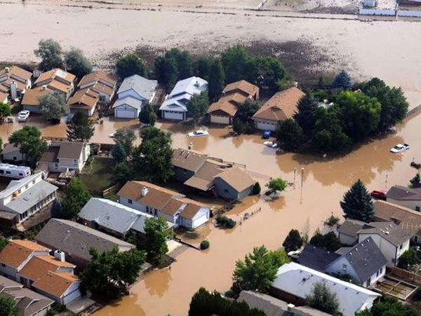 U.S Army via Environmental Protection AgencyFlood-damage homes in Boulder, Colorado, on September 14.