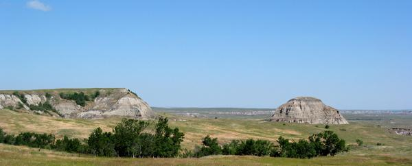 Stephanie WoodardA view of Standing Rock Sioux Tribe's reservation outside the capital in Fort Yates, North Dakota.