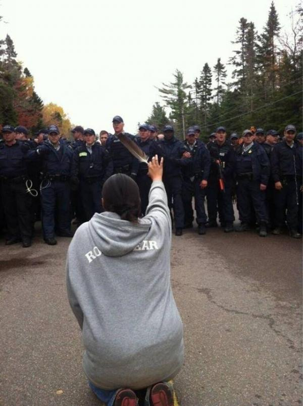Courtesy Ossie Michelin, APTN National NewsAboriginal Peoples Televison Network reporter Ossie Michelin snapped the above photo on a three-year-old iPhone but did not see what he had shot until his producers told him it had been shared more than 160,000 times.