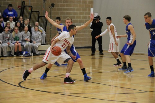 Shawn Sanchey cuts in for a lay up.