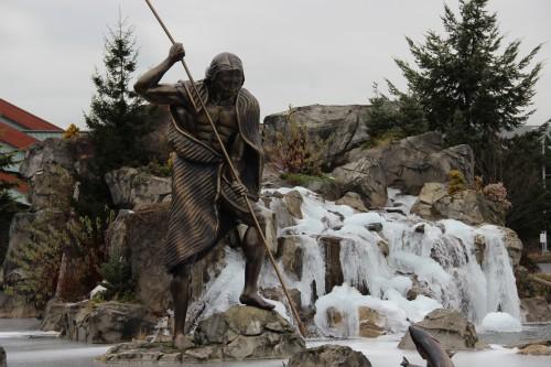 Frozen Waterfalls at Tulalip resort.Andrew Gobin/Tulalip News
