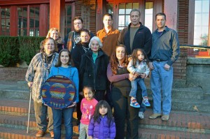 Marilyn Portwood, center, is shown with members of her family. All are among those facing disenrollment from the Confederated Tribes of the Grand Ronde. (Photo by Leah Gibson/Indian County Today Media Network).