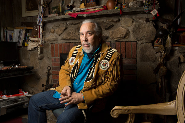 """Fred R. Conrad/The New York Times""""The undertones are racist and personal."""" DWAINE C. PERRY, president and chief of the Ramapough Mountain Indians"""