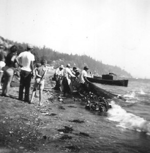 Early Tulalip beach seining photo courtesy of the Tulalip Hibulb Cultural Center Museum.