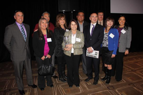Courtesy Colville Tribal Federal Corp.Left to right: CEO Joe Pakootas, Pearline Kirk, Butch Stanger, Lynn Palmanteer-Holder, Susie Marchand, Sneena Brooks, John Sirois, Randy Williams, Debi Condon, Debbie Atuk