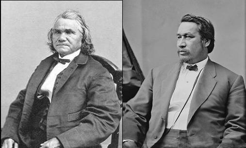 Stan Watie, left, & Ely S. Parker (Courtesy Wikipedia)