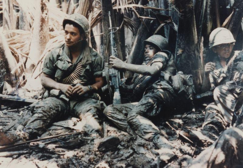 U.S. Army troops taking a break while on patrol in Vietnam War (Courtesy R.W. Trewyn, Ph.D./U.S. Army Operations in Vietnam