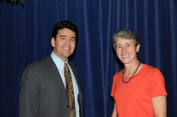 Mike Connor pictured with Interior Secretary Sally Jewell.