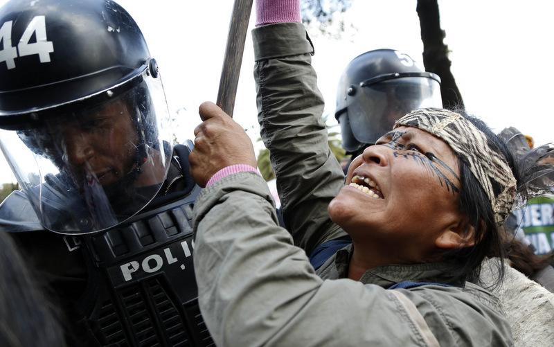 Ecuador Oil Protest