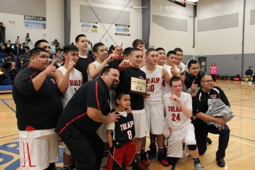 Tulalip Heritage Hawks win District One 1B Championship. Andrew Gobin/Tulalip News