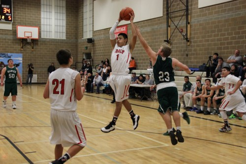 Dontae Jones with the rebound for Tulalip.
