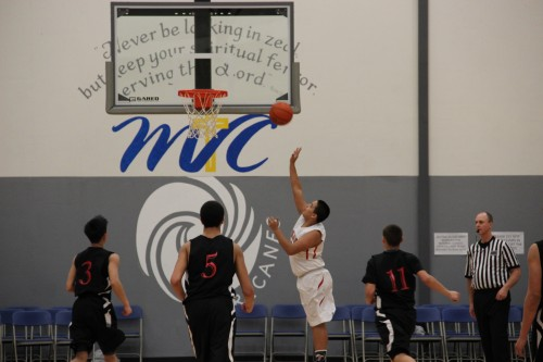 Anthony McLean with a lay up late in the fourth quarter.