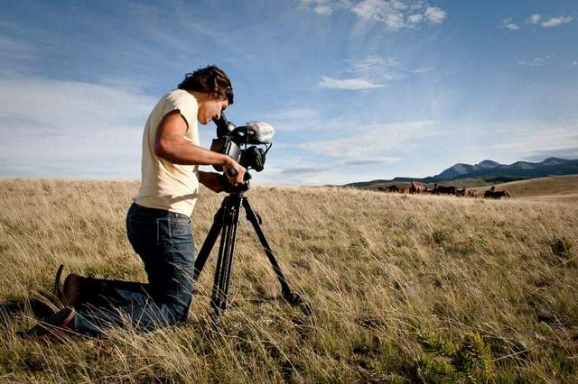 Nicolas Hudak films in 2009 during the production of 'Where God Likes to Be.' / Photo by Nicolas Hudak