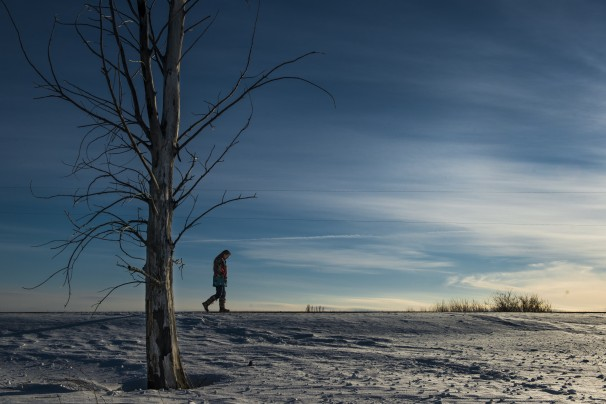 Lisa Brunner in Mahnomen County, Minn., home of the White Earth Indian Reservation. (Linda Davidson/The Washington Post)
