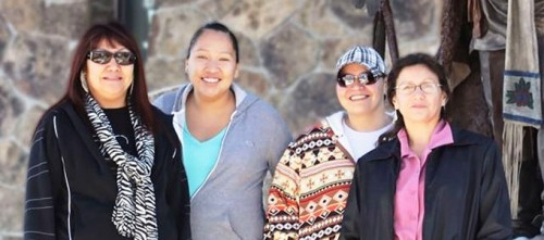 Team members of the 17 Mile Road Project included, from left, Leticia Black of the U.S. Bureau of Indian Affairs and Colette Friday, Nadine Vasquez and Wildene Trosper all of the Shoshone and Arapaho Department of Transportation. Photo provided by WyDOT