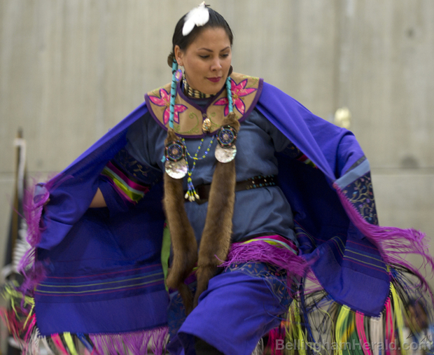 The Native American Student Union of Western Washington University hosted a spring pow-wow, April 26, 2014, in MAC Gym at WWU in Bellingham. The meaning of the pow-wow is to bring people together in a traditional celebration to share the mind body and spirit. The spring pow-wow featured vending, music, traditional dancing food and more. MATT MCDONALD — THE BELLINGHAM HERALD Buy Photo  Read more here: http://www.bellinghamherald.com/2014/04/27/3611151/nasus-2014-spring-powwow.html#storylink=cpy