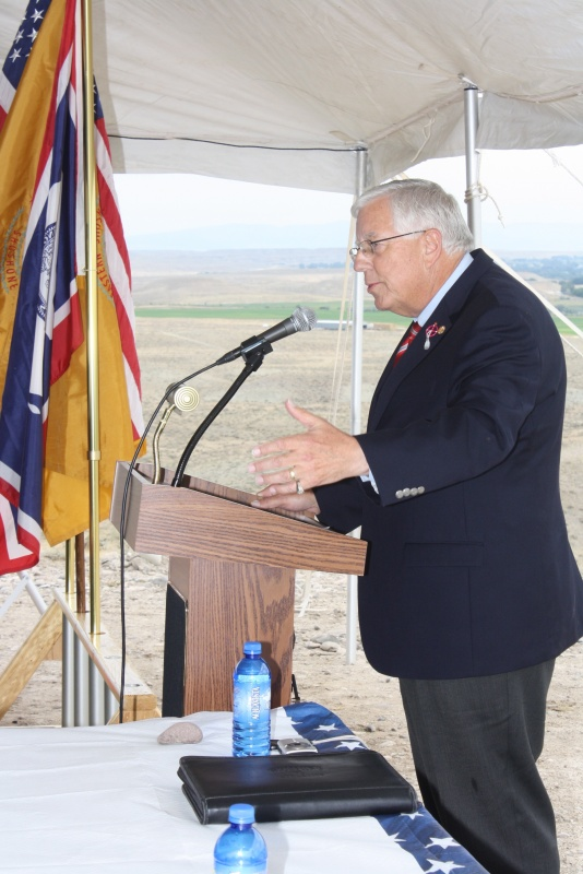 Wyoming Senator Mike Enzi at the ground breaking for the Wind River Job Corps Center.   (Ernie Over photo)