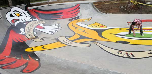 The skatepark may help bolster relationships with people from outside the reservation.