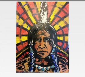 A painting by Tulalip tribal artist Jonny Dill will also be one of the raffle items.Photo courtesy, Natosha Gobin