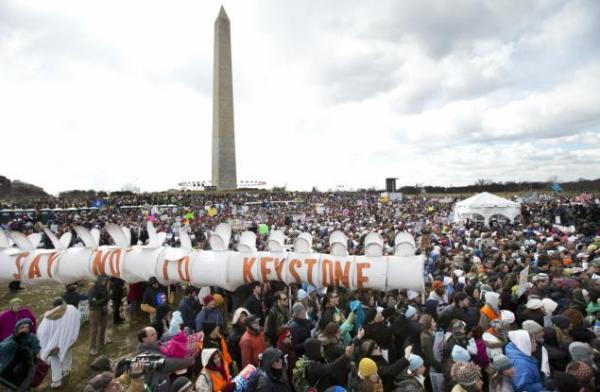 Manuel Balce Ceneta/APThousands gathered at the National Mall in Washington, D.C. on Sunday February 17, 2013 to hold President Barack Obama to his promise to combat climate change.