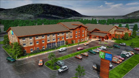 Artist's rendering of the Yurok casino and hotel. Image from Yurok Tribe.