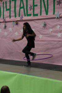 Keyondra Hula hoop dancing.