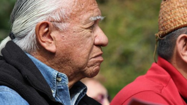 File photo of Billy Frank Jr. in 2011 at a ceremony for the removal of dams on Washington state's Elwha River. The well known fishing rights activist died Monday at the age of 83. | credit: Katie Campbell / Earthfix
