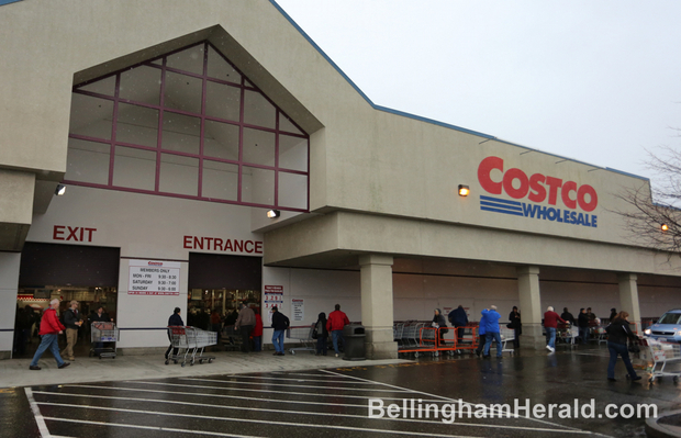 Shoppers enter the Bellingham Costco store Jan. 8, 2013. City officials are continuing to work on projects designed to clear the way for development of a West Bakerview Road site that could accommodate a new Costco store. THE BELLINGHAM HERALD |Buy Photo