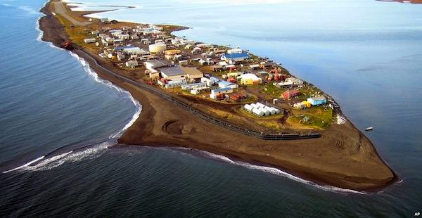 Associated PressKivalina, Alaska is one of several Native villages that are compromised by rising waters.