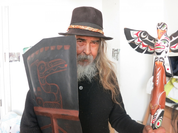 First Nations carver Beau Dick says a copper shield, like the one he holds, will be shattered in Ottawa in a symbolic gesture of anguish.Carlito Pablo