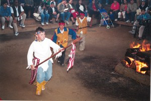 Me, Andrew Gobin, leading the Snohomish War Dance for the first time in 1997.Photo courtesy of Stan and JoAnn Jones