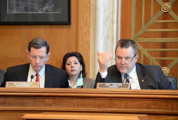 Senate Committee on Indian AffairsSenate Committee on Indian Affairs Vice Chairman John Barrasso, R-Wyoming, and Chairman Jon Tester, D-Montana, listened to testimony at the committee's hearing on American Indian students in public schools.