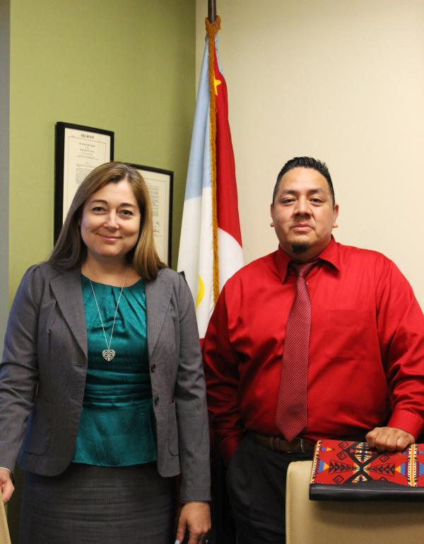 Jacelle Ramon-SauberanPascua Yaqui Tribe Attorney General Amanda Lomayesva and Pascua Yaqui Tribe Chief Prosecutor Alfred Urbina are working to improve the Pascua Yaqui community through the Violence Against Women Act.