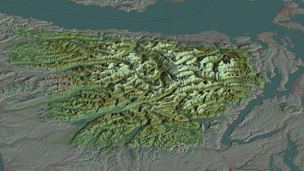 A 3-D map of the Olympic National Forest.Credit Martin D. Adamiker / Wikimedia