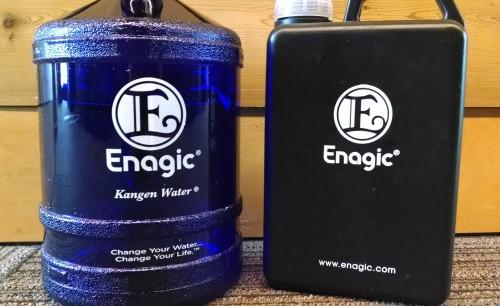 Signature Enagic water jugs, the mark of a Kangen user.Photo, Andrew Gobin