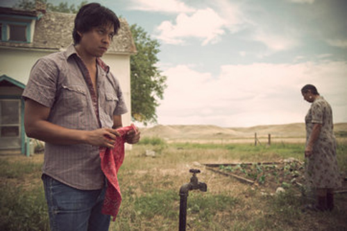 """Chaske Spencer plays an alcoholic Blackfoot Indian man whose wife has run away in """"Winter in the Blood,"""" set in Montana. Credit KBD Photography/Kino Lorber"""