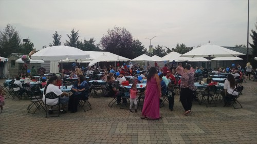 Families gathered at the Tulalip Amphitheater August 12  to celebrate the children of the Tulalip Early Head Start program that will be starting preschool this fall.Photo: Andrew Gobin/Tulalip News