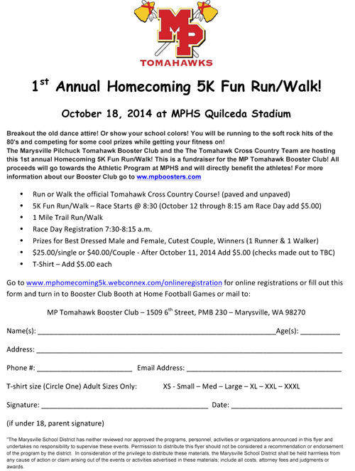 Microsoft Word - 1st Annual Homecoming 5K Fun Run.docx