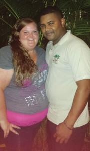 Jade Parks and her fiancé' Leonardo Carela before her sleeve gastrectomy. Photo courtesy/ Jade Parks