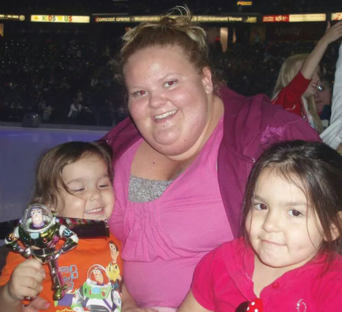 Before her sleeve gastrectomy surgery, Jade Parks weighed 350 pounds. Parks with her nephew Cyles Parks and niece Kerrigyn Parks shortly before her surgery. Photo courtesy/ Jade Parks