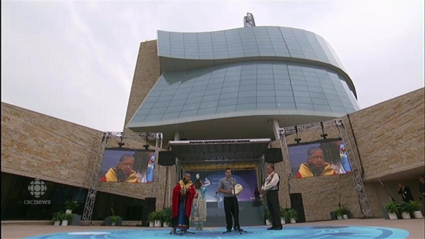 Canadian Museum for Human Rights officially opens amid protests