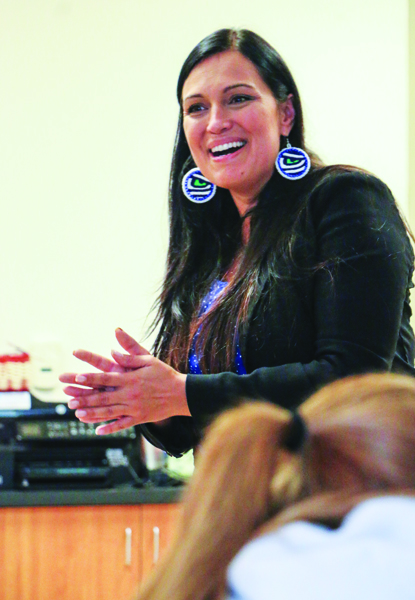 Tulalip Tribes Councilwoman Deborah Parker spoke to the students about putting an end to abuse.