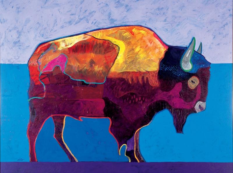 Buffalo At Sunset by John NietoTACOMA ART MUSEUM, HAUB FAMILY COLLECTION