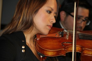 The sweet sound of strings echoed throughout the ballroom during the six course dinner.