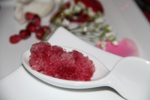 Intermezzo by Chef John Jadamec was a pomegranate and rose granita.