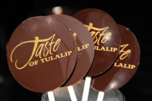 The parting gift was a Taste of Tulalip 58% chocolate lollipop.