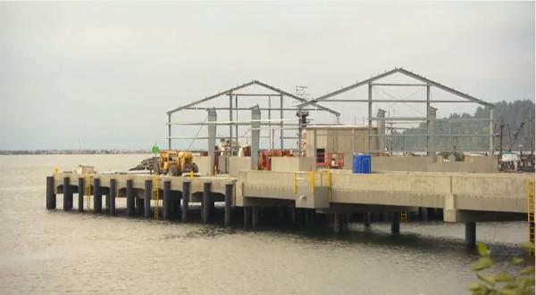 Wells Fargo Youtube captureMakah Nation's new commercial fishing dock