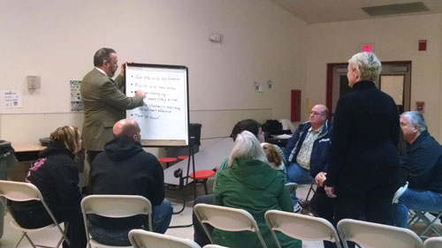 Marysville School District held a community meeting on Monday, Dec. 11, 2014, at Cedarcrest Middle School to hear community input on MPHS cafeteria future. (Tulalip News/ Brandi N. Montreuil)