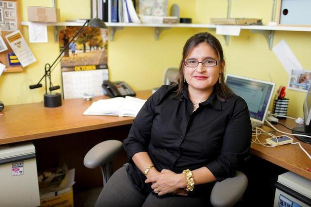 Raquel Montoya-Lewis, shown in her office at Fairhaven College in 2011, was appointed to a new seat on the Whatcom County Superior Court by Gov. Jay Inslee on Monday, Dec. 15, 2014.RHYS LOGAN | WWU — Courtesy to The Bellingham Herald