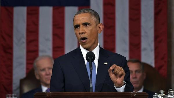 Mandel Ngan/APPresident Barack Obama delivering his State of the Union address for 2015.